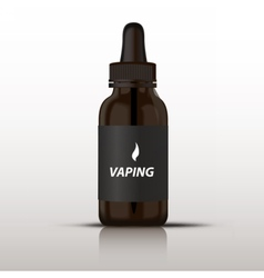 Glass vaping bottle vector