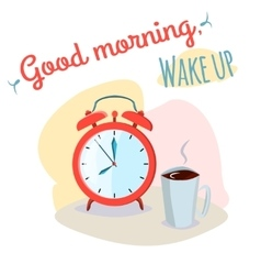 Good morning wake up vector image vector image