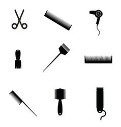Hair salon elements icon vector