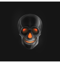 Halloween of an evil skull vector