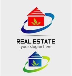 Houses real estate eco natural logo vector image vector image