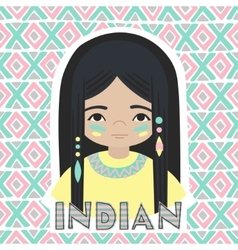Indians girl vector