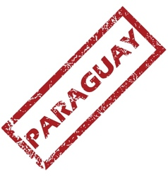 New paraguay rubber stamp vector