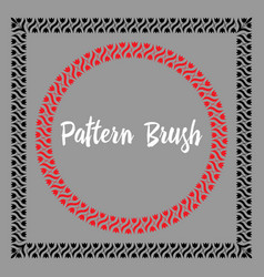 pattern brush template vector image vector image
