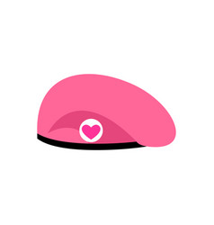 Pink beret cupid for valentines day vector