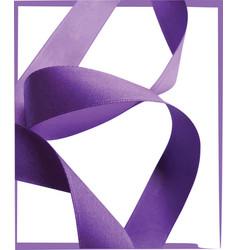Purple ribbon over white background design element vector