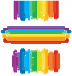 rainbow border vector image vector image