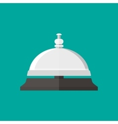 Reception service bell in flat style vector