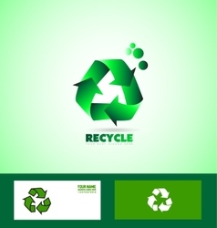 Recycle recycling sign logo vector