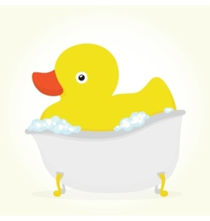 Rubber duck in a bath vector