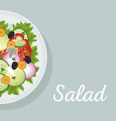 salad vegetables nutrition diet eat vector image vector image