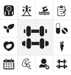 Set of 12 editable training icons includes vector
