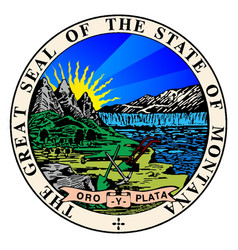 State seal of montana vector