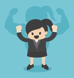 Strong business women vector