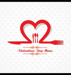 Template for Valentine day Restaurant Menu Card vector image vector image