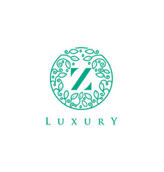 Z letter logo luxurybeauty cosmetics logo vector