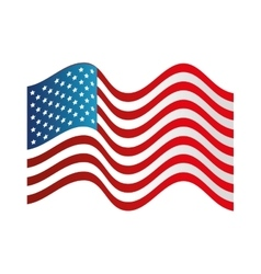 Usa symbol flag isolated design vector