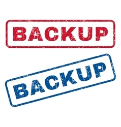 Backup rubber stamps vector