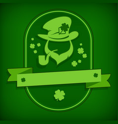 Leprechaun template in green vector