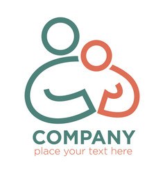 Mother and child care and care social company vector
