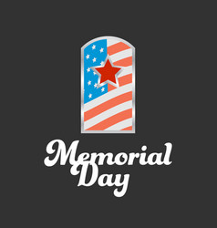 Memorial day banner vector