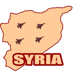 jet bomber shadows onsyria map vector image