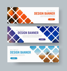 Design of white web banners with rhombuses for vector