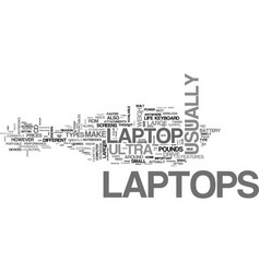 Which laptop is right for you text word cloud vector