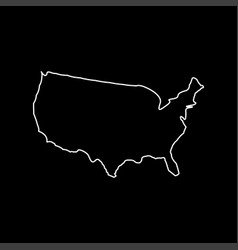 map of america white color icon vector image
