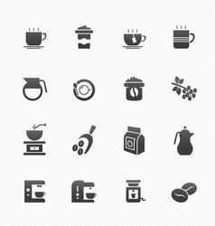Coffee symbol icons vector image