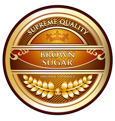 Brown sugar gold label vector