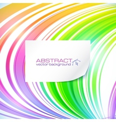 Rainbow abstract lines background with white vector
