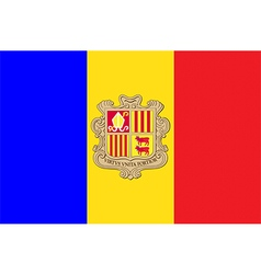 Flags of andorra vector