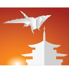 Paper dragon vector