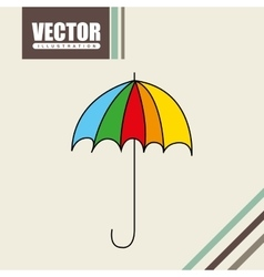 Umbrella drawn icon design vector
