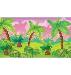 Jungle game background vector