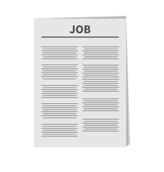 Job newspaper icon flat design isolated white vector