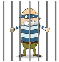 Bad guy in jail vector