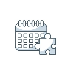 calendar reminder with business icon vector image