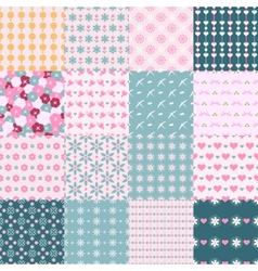 fashionable seamless patterns vector image