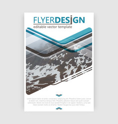 Flyer design business brochure booklet cover or vector