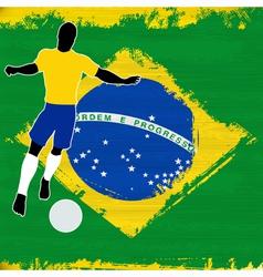 Football Brazil vector image vector image