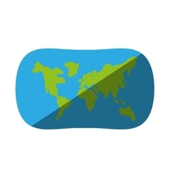 Globe earth map navigation shadow vector