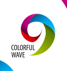 Logo colorful wave of bands vector