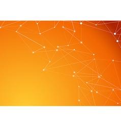 Orange molecule connection atom business vector