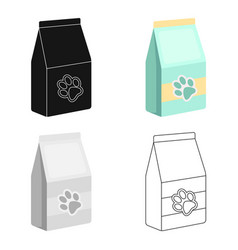 Pet food icon in cartoon style isolated on white vector