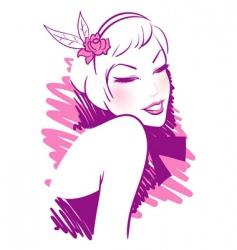 retro women pink vector image vector image