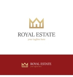 Royal estate logo on white background vector image vector image