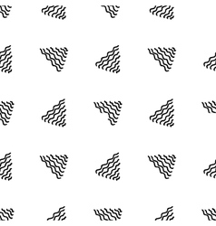 Seamless hand drawn triangle pattern vector