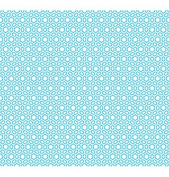 Six rays hex linear stars seamless pattern blue vector image
